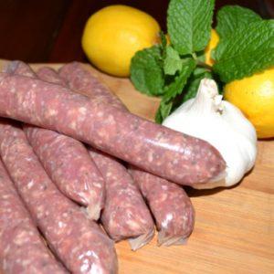 Organic Minted Lamb Sausages