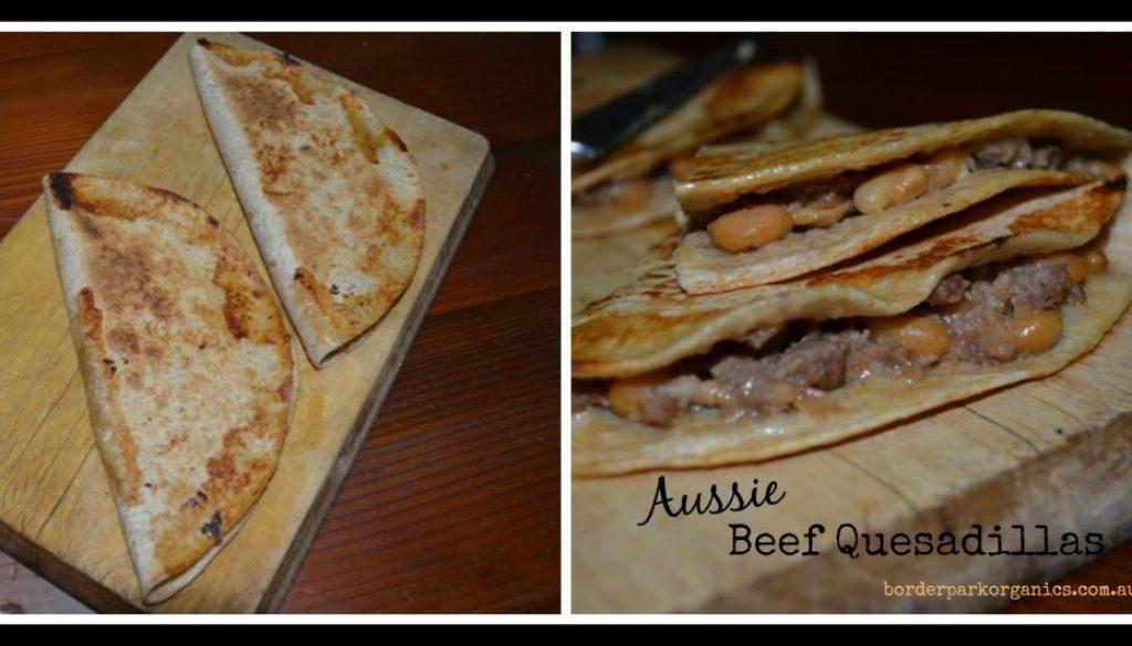 Recipe - Aussie Beef Quesadillas Border Park Organics