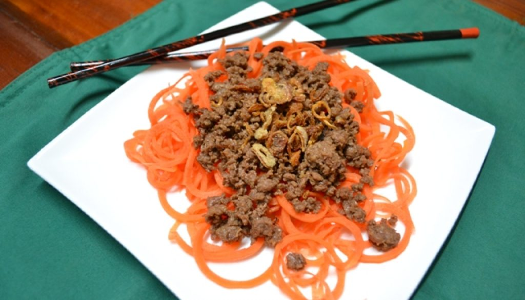 Recipe - Bolognaise with an Asian Border Park Organics