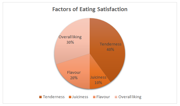 Meaty Morsels | Factors of Eating Satisfaction Pie Chart