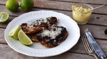Crumbed steak with Lime Aioli | Border Park Organics