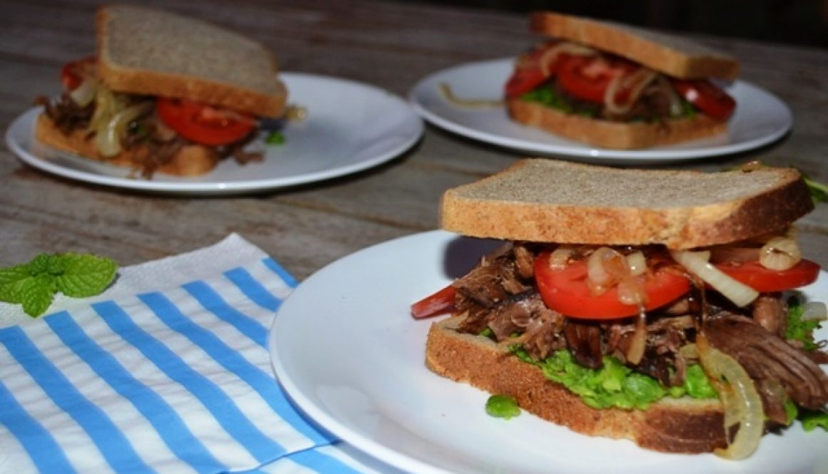 Pulled Lamb Sandwiches with Smashed Peas | Border Park Organics