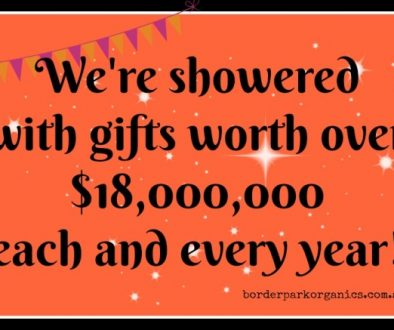 Showered with gifts | Border Park Organics