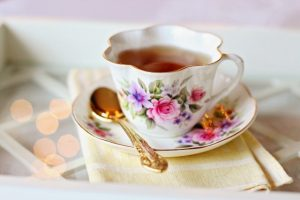 A picture of a bone china tea cup.
