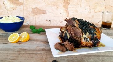 Slow Cooked Lamb Roast Drizzled with Zesty Mint Sauce | Border Park Organics